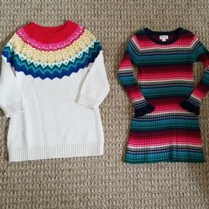 Lot of Toddler Girl sweater dresses size 2T